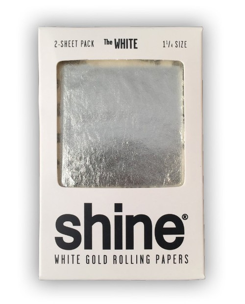 Papel Shine 24K Oro Blanco - 1¼ - 2 papeles