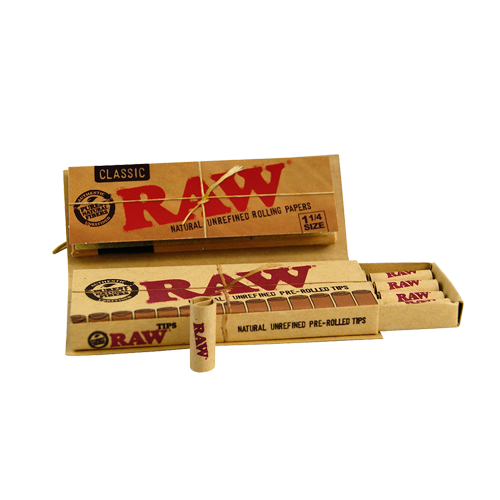 Papel Raw Connoisseur Pre-rolled 1 ¼ Classic (papel + tips pre-rolled)