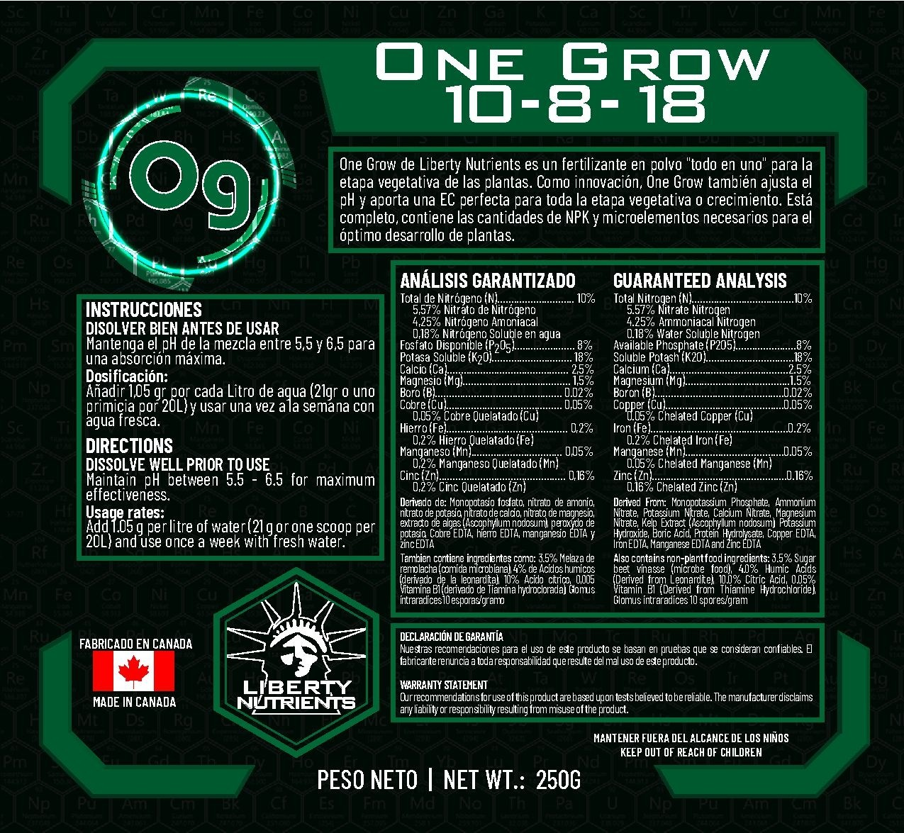 One Grow - Liberty Nutrients