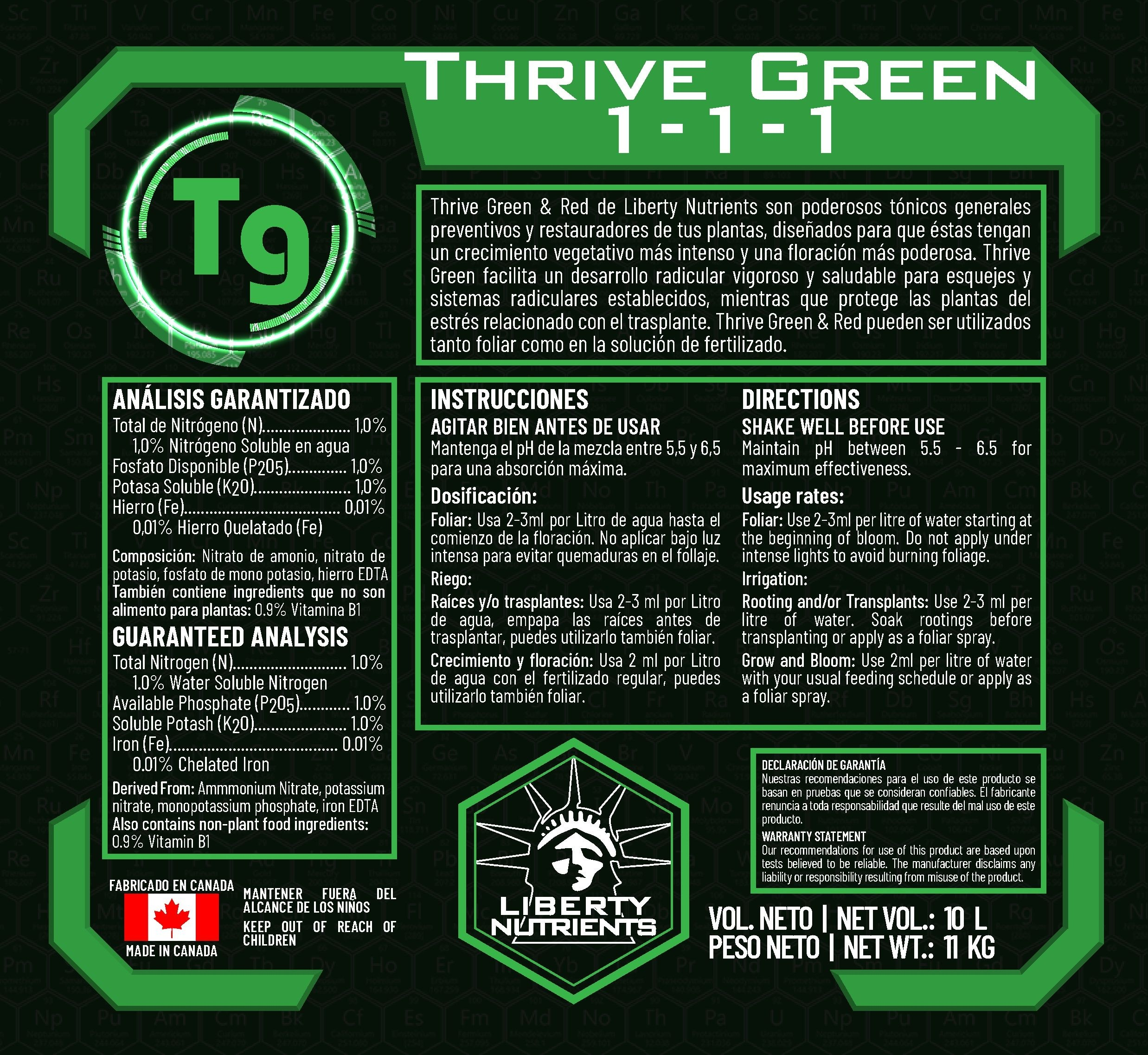 Thrive Drive Green - Liberty Nutrients