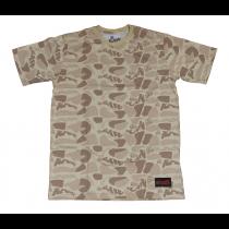 Camiseta RAW beige camuflado