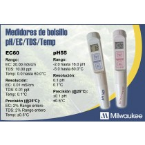 Maletín PH y EC y temperatura PH55 y EC59