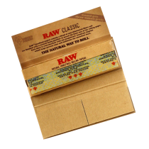 Papel Raw Connoisseur Single Wide Classic (papel + tips)